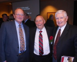 Meeting with my HS Coach Stallcup and Coach Moore. Dec 12, at the Greater Flint Sports Hall of Fame induction ceremonies.